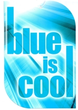 <h5>Blue is cool</h5>